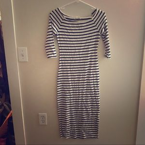 Women's maxi striped dress